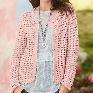 Sundance XL Crochet Spring Break Cardigan